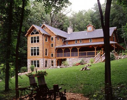Custom log home addition for Log home addition