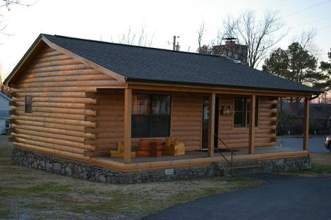 Our model cabin for 600 sq ft cabin kits